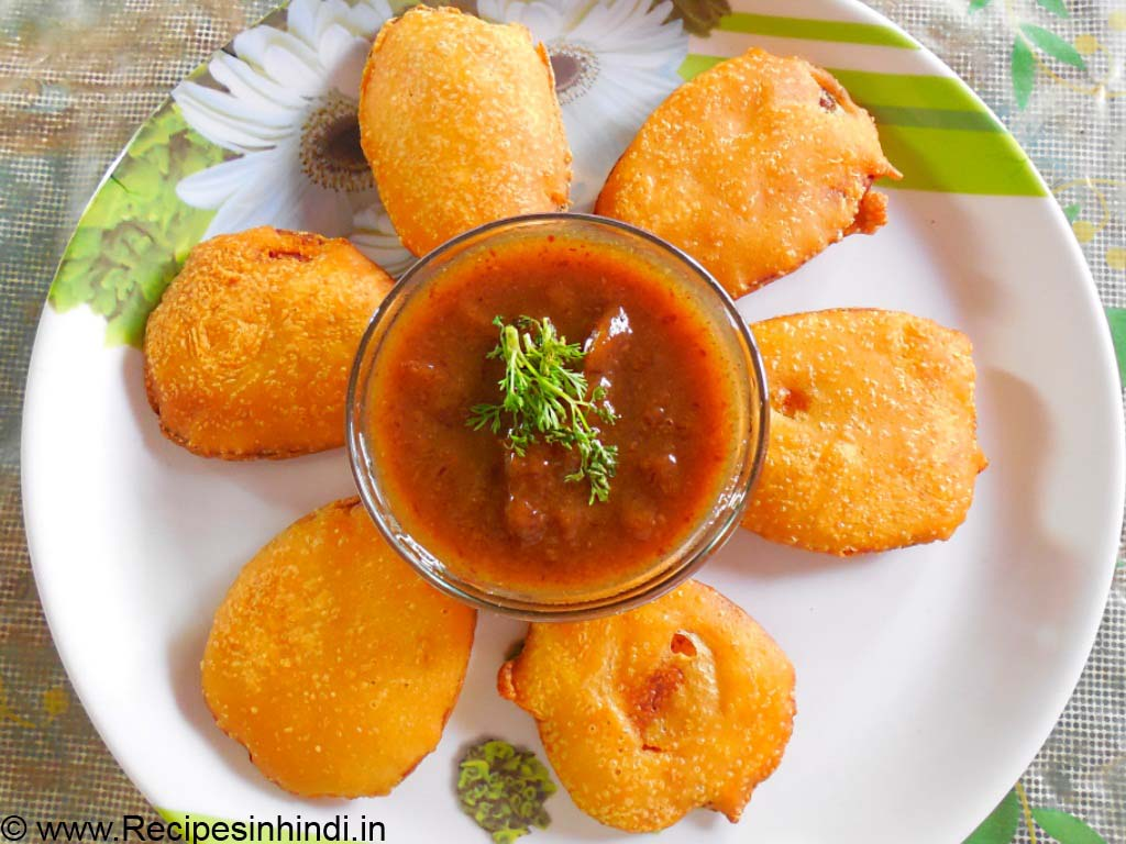 Home made Potato Fritters Recipe in Hindi.