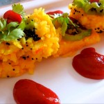 पोहा ढोकला | Poha Dhokla Recipe in Hindi | Poha Dhokla with step by step Pictures.
