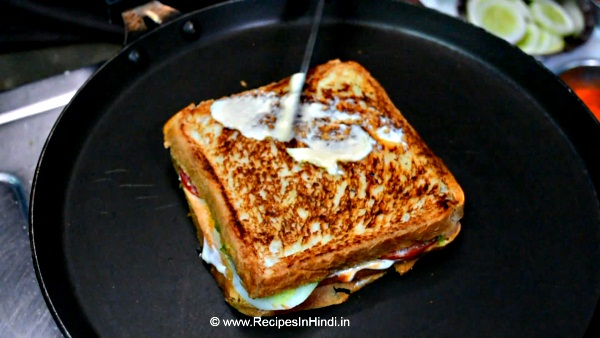 How to make Egg Sandwich Recipe in Hindi.