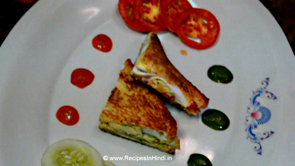 Home made Egg Sandwich Recipe in Hindi.
