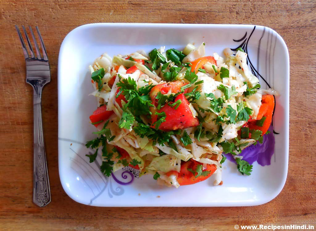 How to Make Onion and Cabbage Salad Recipe in Hindi, Best Indian Salad Recipe, Indian Gujarati Salad Recipe, Indian Vegetarian Salad Recipe.