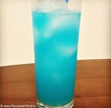 Blue Lagoon Recipe in Hindi. Indian Mocktail Recipe. Indian Cold Drink Recipe.