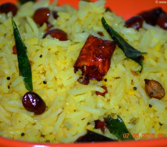 Lemon Rice Recipe in Hindi. Indian Rice Recipe. Indian Rice Dish.