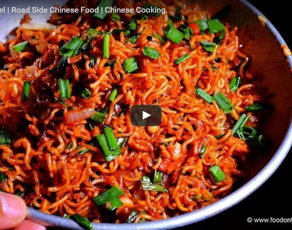 Chinese Bhel Making Video. Indo-Chinese Dish. Chinese Food Cooking.