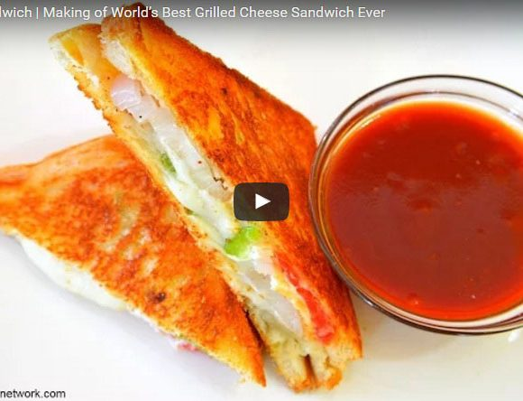 Famous Grilled Cheese Sandwich. Indian Sandwich. Indian Vegetarian Sandwich. Popular Indian Sandwich.