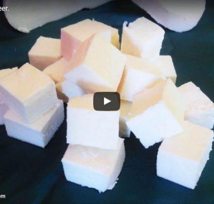 How to Make Paneer at Home. Home Made Paneer Recipe. Video Recipe. Indian Cottage Cheese Making.