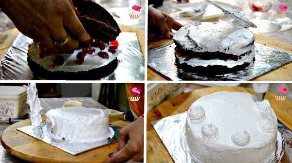Eggless Black Forest Cake Recipe in Hindi. Easy Black Forest Cake Recipe. Cake Recipe.
