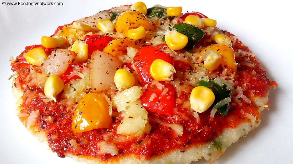 Uttapam Pizza Recipe, How to Make Uttapam Pizza, Homemade Uttapam Pizza, South Indian Food, South Indian Cuisine, Indian Breakfast Recipe.